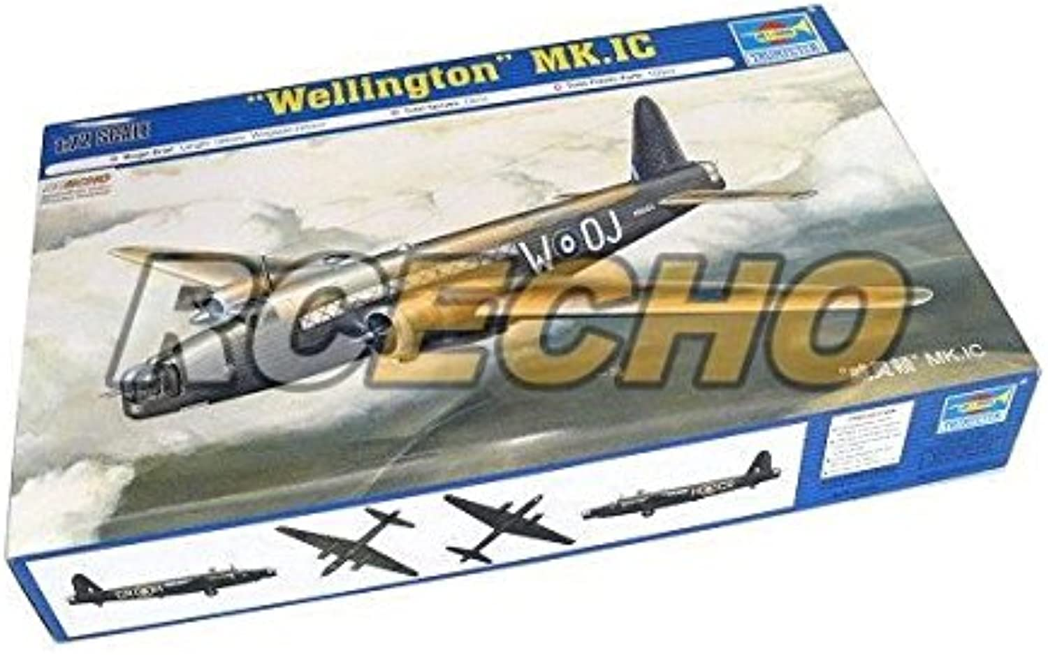 RCECHO® TRUMPETER Aircraft Model 1 72 Wellington MK.IC Scale Hobby 01626 P1626 with RCECHO® Full Version Apps Edition B01LW1NU4J Vielfalt  | Praktisch Und Wirtschaftlich