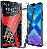 TAURI 3 Stück Schutzfolie Kompatibel Mit Huawei Honor 8X Panzerglas, Alignment Frame Einfache Installation 9H Festigkeit Anti-Kratzen Öl Bläschen HD Klar Glas Bildschirmschutzfolie