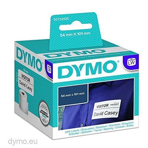 DYMO LW-Versandetiketten/-Namensschilder selbstklebend (große, 54mm x 101mm, Rolle mit 220leicht ablösbaren Etiketten, für LabelWriter-Beschriftungsgeräte, authentisches Produkt)