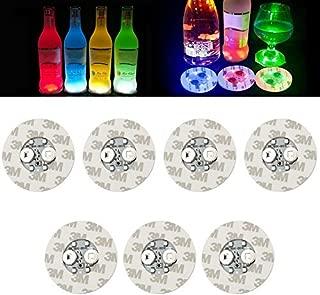 LED Bar Coasters,Bottle Lights,Bottle Glorifier,Sticker Coaster Discs Light Up for Wine Bottle Clear Glass Cup Vase Color Changing Lights - Cup,Party,Wedding,Bar,Party Decoration 12 PCS