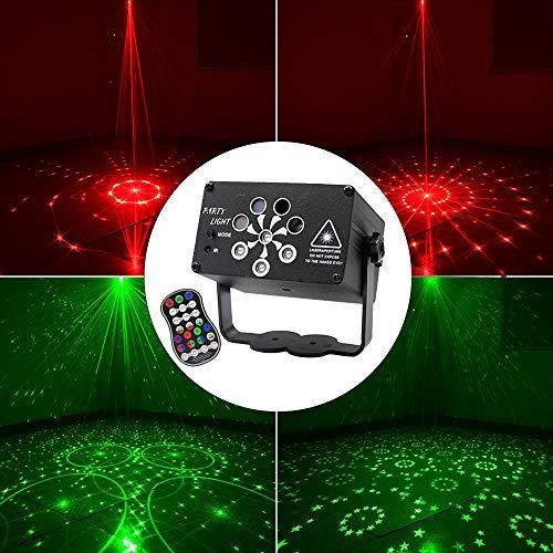 TOMORAL Disco Lights, Musikaktivierung, Disco DJ Projektionslichter, LED Mini Party Lights, Blitzlichter mit Fernbedienungsfunktion, geeignet für Kindergeburtstage USB-Netzteil