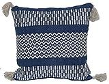 Brentwood Originals 9748 Pattern Stripe Pillow, 18' x 18', Indigo