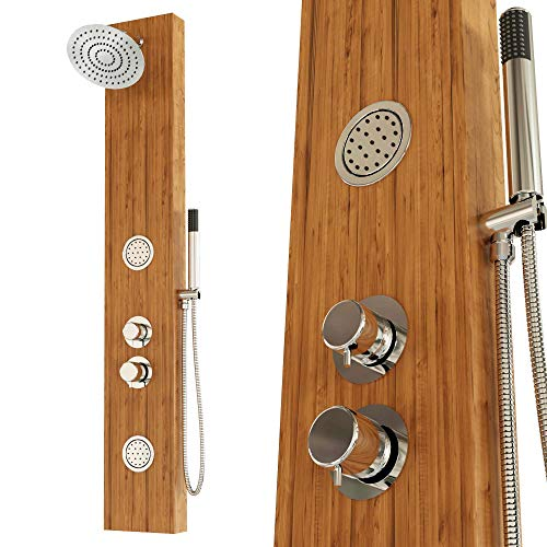 Tronitechnik Duschpaneel Duschsäule Sligo Aluminium Holzoptik