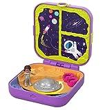 Polly Pocket Coffret Secret Shani dans l'espace avec mini-figurine, 3Surprises, accessoires et autocollants, jouet enfant, GDL84