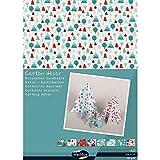 Clairefontaine 354598C - Paquete de 40 hojas de cartón decorativas (25 x 35 cm), diseño navideño