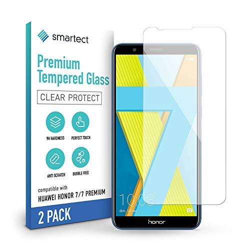 smartect Schutzglas kompatibel mit Huawei Honor 7 / Honor 7 Premium [2 Stück] - Tempered Glass mit 9H Festigkeit - Blasenfreie Schutzfolie - Anti-Kratzer Bildschirmschutzfolie