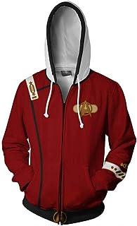 Ayazan Cosplay Khan Unisex 3D Print Hoodie Costume Sweatshirts Jacket Zipper
