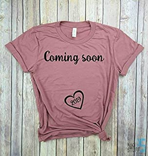 0ae0cfc78c9 Coming Soon 2019, Pregnancy Shirt, Mom to Be, Pregnancy Reveal, New Mom