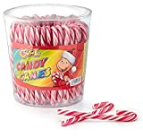 Cool Candy Canes 50 Zuckerstangen a 14 g rot/weiß | mit Erdbeergeschmack | Dose mit 50 Stück (50 x 14g)