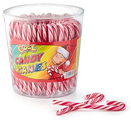 Cool Candy Canes 50 Zuckerstangen a 14 g rot/weiß   mit Erdbeergeschmack   Dose mit 50 Stück (50 x 14g)