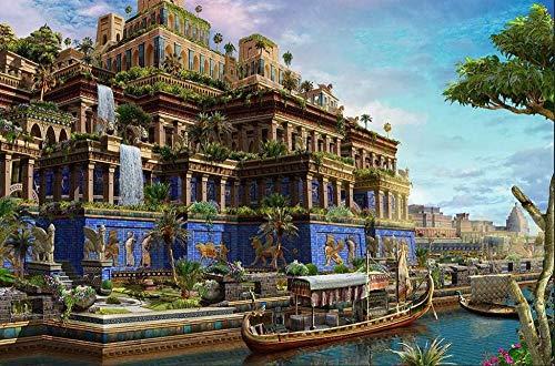 PQGHJ Rompecabezas para Adultos de 1000 Piezas - Jardines Colgantes de Babilonia - Rompecabezas de Madera de Bricolaje para niños Juguetes-Patrón_ (G) _1000_Pc