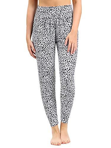 Love My Fashions Alibaba Harem - Pantalones de yoga italianos de cintura alta con elástico para mujer, longitud completa, para gimnasio, deportes, pilates, casual, viscosa, verano, tallas grandes
