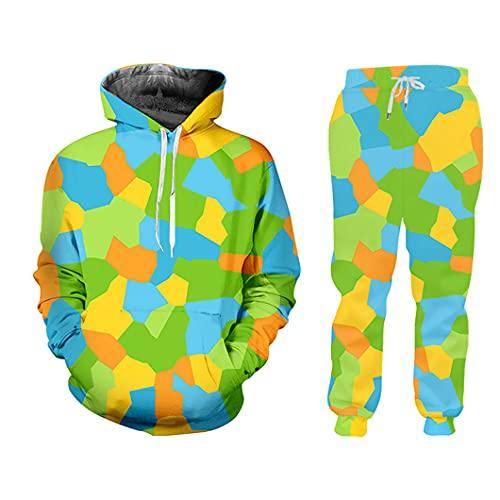 UJDKCF Sistemas de la impresión del Color 3D de Las Mujeres y los Pantalones de Jogging Streetwear chándalsuits HSPA60181 5XL