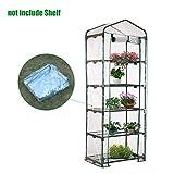 Heresell - Telo in PVC per mini serra a 4 ripiani per piante, senza telaio in ferro, Green...