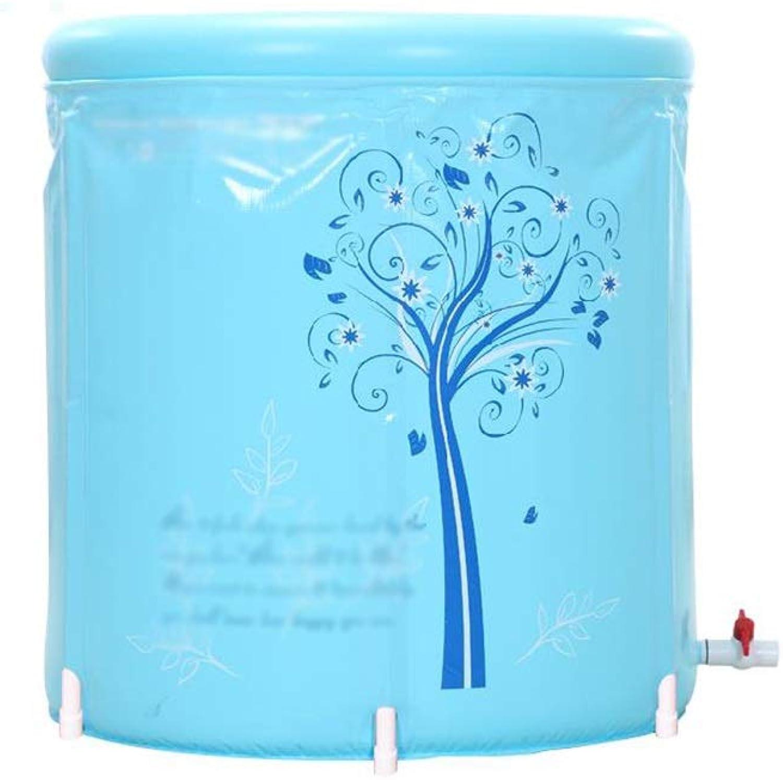 XF Kunststoff-Faltbadewanne, aufblasbare Badewanne, tragbarer Whirlpool, verdickte Warmhaltewanne für Erwachsene, Badewanne für den privaten Gebrauch, Babyschwimmen, blau Freistehende Badewanne