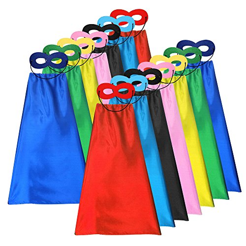 ADJOY Superhero Capes and Masks for Kids...