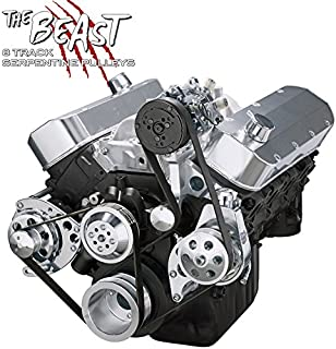 Chevy Big Bock Serpentine Kit - Alternator, Power Steering & A/C Applications