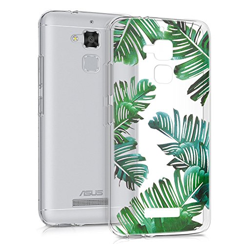 Eouine Funda ASUS Zenfone 3 MAX 5.2, Cárcasa Silicona 3D Transparente con Dibujos Suave TPU Impresión Patrón Bumper Case Cover Fundas para Movil ASUS Zenfone 3 MAX 5.2 ZC520TL (Hojas)
