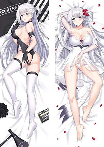 ZHTX Azur Lane Shokaku Double-Sided Print Pillow Covers Anime Cushion Cover Case Zippered Square Pillowcase 2Way Tricot 100 x 34cm(39 37in x 13 38in)
