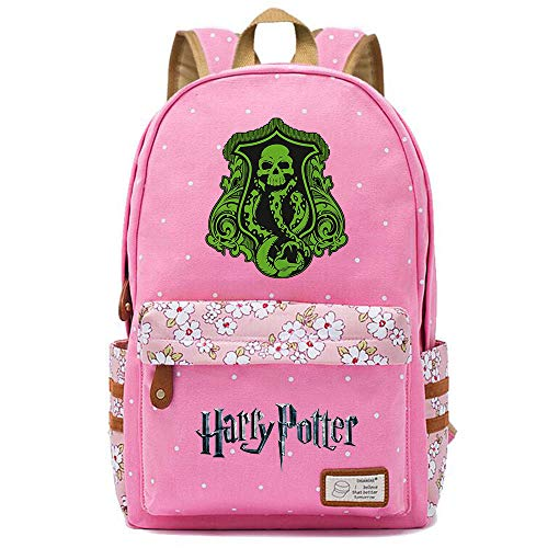 NYLY Mochila Floral Harry Potter Mochila Slytherin,Teen Boys Girls Fashion School Bag Bolso para portátil M (Rosa) Estilo-5