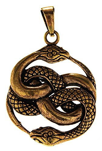 Kiss of Leather - Colgante de serpiente de bronce n.º 135