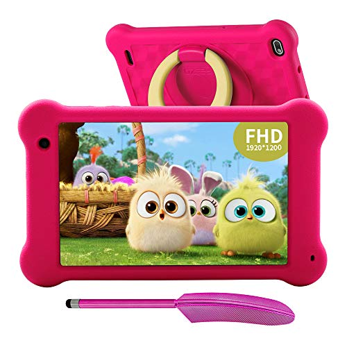 AEEZO Kids Tablet 7 Pulgadas WiFi Android 10 Tablet PC 2020 Nueva Pantalla FHD 1920x1200 IPS, 2GB RAM 32GB ROM, Control Parental, Kidoz Instalado, Protección de Ojos Anti Blue Light Screen (Rosa)