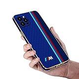 Coque pour iPhone 13/12/11 Fibre de Carbone Cuir Étuis du Téléphone Mince Antichoc Placage Cadre...