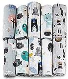 Pañales de gasa – 10 unidades 70 x 80 cm – Pañales de tela, fabricados en...