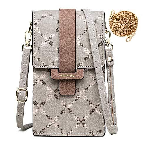 HAIWILL Handy Umhängetasche Damen, Mini Bag für Handy Frau Pu Leder Schultertasche Brieftasche Elegant Handytasche mit Verstellbar Schultergurt für iPhone 11 Pro/11/Xs Max/XR/Xs, Handy bis zu 6.5''