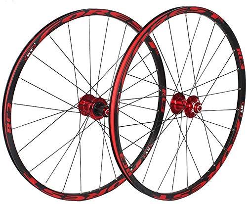 Ruedas De Bicicleta,llantas bicicleta MTB de ruedas de 26 pulgadas trasera / de la rueda delantera, de pared doble de aleación de aluminio MTB Impulsor rápido híbrido de lanzamiento V-Brake rodamiento