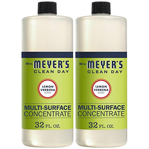 Mrs. Meyer's Clean Day Multi-Surface Cleaner Concentrate, Use to Clean Floors, Tile, Counters,Lemon Verbena Scent, 32 oz- Pack of 2