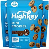 HighKey Snacks Keto Food Low Carb Snack Cookies, Chocolate Chip, 3 Pack - Gluten...