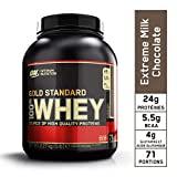 Optimum Nutrition Gold Standard 100% Whey Protéine en Poudre avec Whey Isolate, Proteines Musculation Prise de Masse, Chocolat au Lait, 71 portions, 2.27 kg