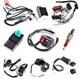 Complete Electrics Stator Coil CDI Wiring Harness for 4 Stroke ATV KLX 50cc 70cc 110cc 125cc-atv wiring harness