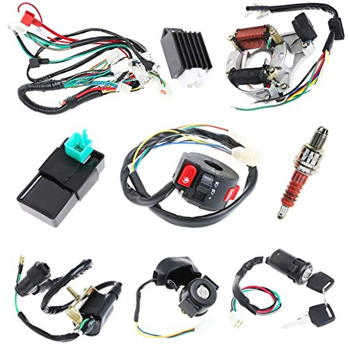 Complete Electrics Stator Coil CDI Wiring Harness for 4 Stroke ATV KLX 50cc 70cc 110cc 125cc-atv wiring harness