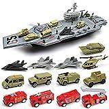 HXPH Porte-Avions Jouet de garçon monté dans Un Bateau de Combat, Jouets éducatifs en plastique3-12 Ans(70x19x21cm