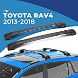 BougeRV Car Roof Rack Cross Bars for 2013-2018 Toyota RAV4 with Side Rails, Aluminum Cross Bar Replacement for Rooftop Cargo Carrier Bag Luggage Kayak Canoe Bike Snowboard Skiboard