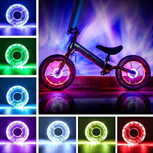 Xionghonglong LED Fahrrad Rad Lichter,LED Fahrrad Speichenlicht,wasserdichte Fahrradspeiche,LED Kinder Roller Licht,Blitzlampe Fahrrad,Speichenlichter USB Wiederaufladbare,Fahrraddekoration