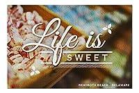 Rehoboth ビーチ、デラウェア - Life is Sweet - キャンディの列 (20x30 プレミアム 1000ピース ジグソーパズル 米国製)