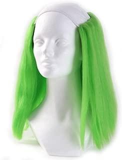 Clown Antics Green Bald Clown Straight Wig