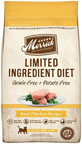 Merrick Limited Ingredient Diet Grain Free Chicken Dry Cat Food, 12 Lbs.