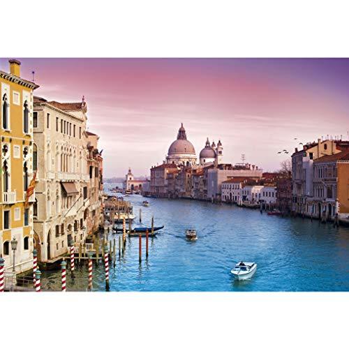 GuDoQi Puzzle 1000 Piezas Adultos Rompecabezas Madera Gran Canal Venecia Italia para Infantiles Adolescentes