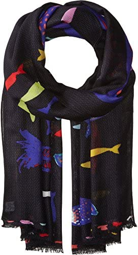 Vera Bradley Women s Soft Fringe Scarf Fish Multi One Size product image