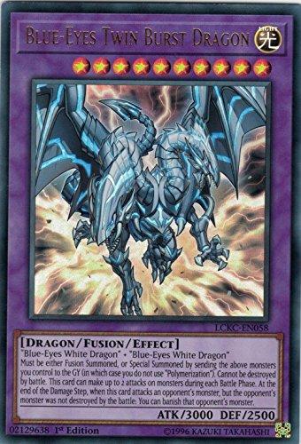 Yugioh Blue-Eyes Twin Burst Dragon - LCKC-EN058 - Ultra Rare - 1st Edition Legendary Collection Kaiba Mega Pack