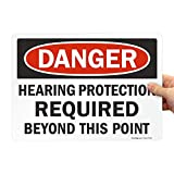 SmartSign 'Danger - Hearing Protection Required Beyond This Point'...