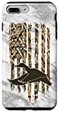 iPhone 7 Plus/8 Plus Grey Camouflage American USA Flag Duck Hunter Hunting Trendy Case
