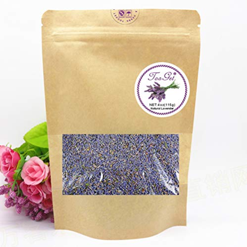 TooGet French Lavender Buds Organic Top Grade Dried Lavender Flower 100% Pure and Natural Lavender Fresh Fragrance Large Resealable Bag - 4 OZ