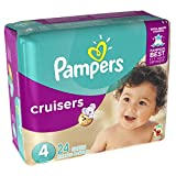 Pampers Cruisers Disposable Diapers Size 4, 24 Count, JUMBO