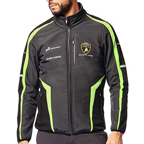 Lamborghini Squadra Corse Herren-Softshell-Jacke, Schwarz, offizielles Team Merchandise, Schwarz , Mens (S) Chest 36 inches