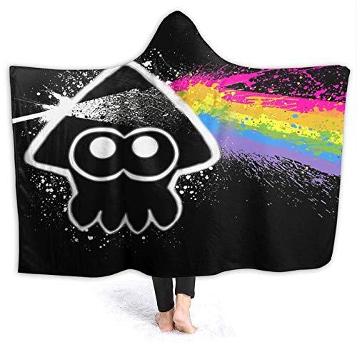 XCNGG Kapuzendecke Hooded Blanket Throw Dark Side of The Squid Super Soft Sherpa Fleece Blanket Hood Poncho Cloak Cape